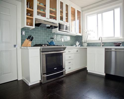 Medium Sized Kitchen Design Ideas Renovations Photos With Cork Flooring