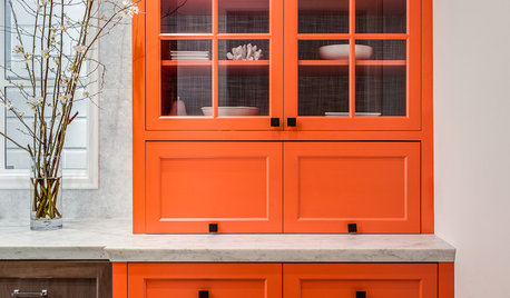 7 Rooms That Fall for Orange