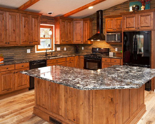 kitchen stove backsplash rustic alder wood houzz 3202