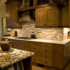 Rustic Kitchen by Rhonda Knoche Design