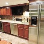 Whitewashed Lake Cabin - Rustic - Kitchen - Milwaukee - by Jessica Jubelirer Design