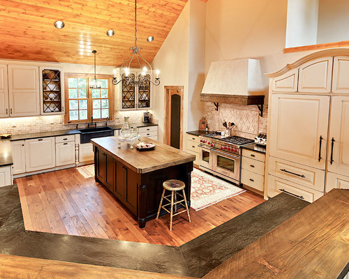 Wood Countertop And Backsplash Home Design Ideas Pictures