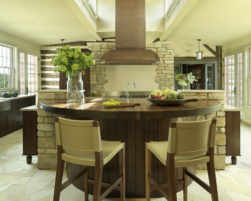 Round Kitchen Island Home Design Ideas Pictures Remodel