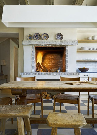 Mediterranean Kitchen by David Michael Miller Associates