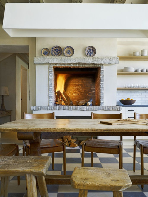 kitchen fireplace houzz