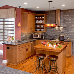 eclectic kitchen by HomeTech Renovations, Inc.