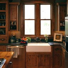 Rustic Kitchen by Curt Hofer & Associates