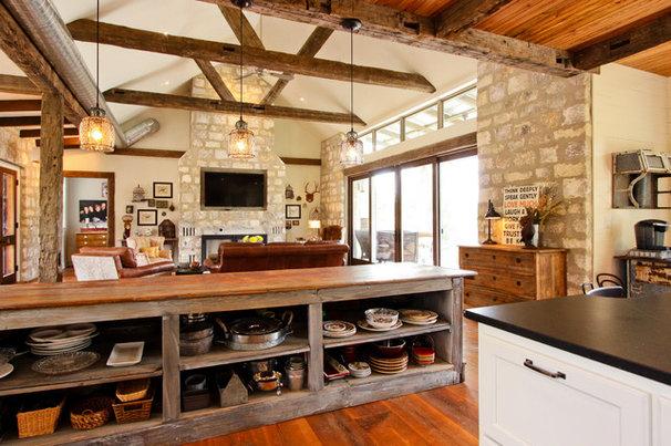 Rustic Kitchen by Brad Moore Builders, LLC
