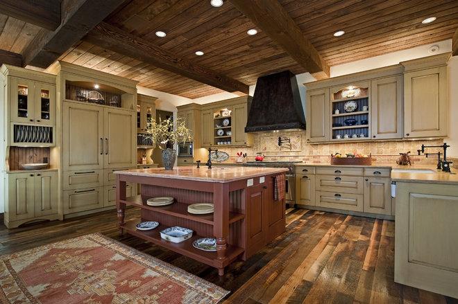 Rustic Kitchen by Bulhon Design Associates