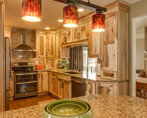 Rustic Hickory Cabinets Home Design Ideas, Pictures, Remodel and Decor