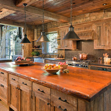 rustic kitchen by JLF & Associates, Inc.
