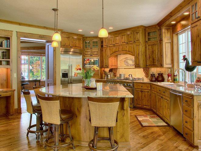 Rustic Kitchen by John F Buchan Homes