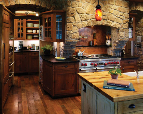 Houzz rustic kitchen design design ideas remodel pictures for Traditional indian kitchen pictures
