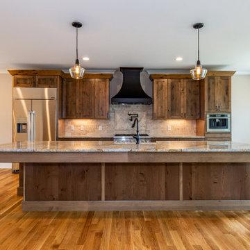 Rustic Kitchen Kraftmaid Knotty Alder cabinets