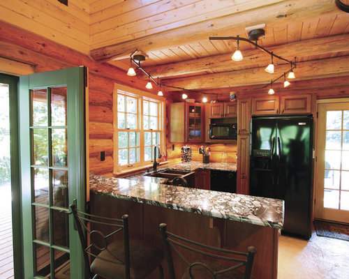 Log Cabin Kitchens Home Design Ideas Renovations Photos