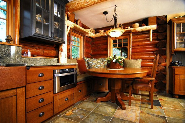 Rustic Kitchen by Renewal Remodels and Additions