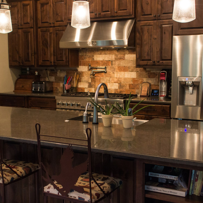 Meadows Rustic Lodge Style Home-Kitchen