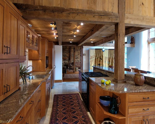 Mountain Style Kitchen Photo In Philadelphia With Granite Countertops