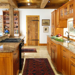 rustic galley kitchen design