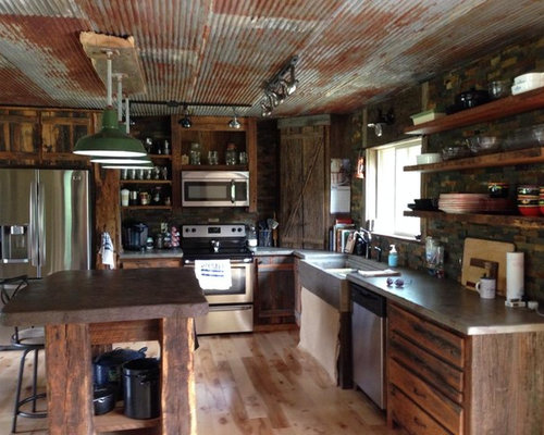 Rustic kitchen cabinets ideas pictures remodel and decor for Style kitchen nashville reviews