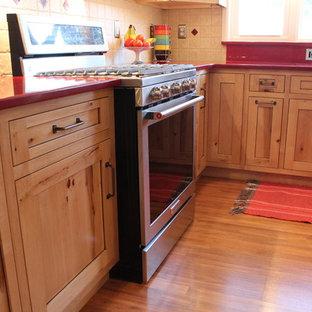 Rustic Knotty Maple Kitchen