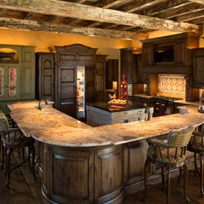 Rustic Kitchen by Collaborative Design Group-Architects & Interiors