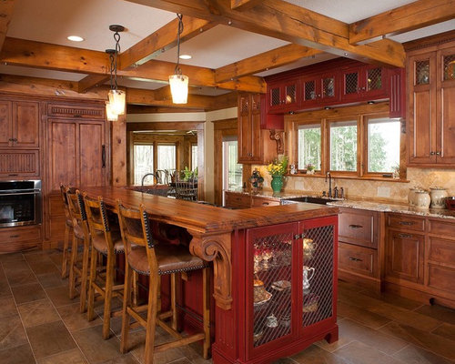 marvelous kitchens beige cabinets | Chicken Wire Cabinet Home Design Ideas, Pictures, Remodel ...