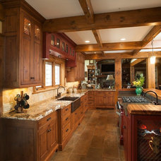 Rustic Kitchen by Mullet Cabinet