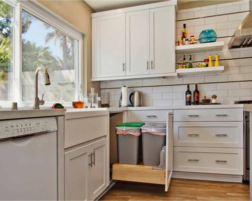 Under Sink Pullout Trash Can Home Design Ideas Pictures