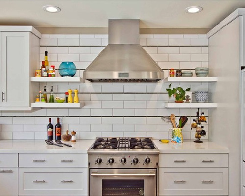 Decorative kitchen shelving houzz for Kitchen 0 finance b q