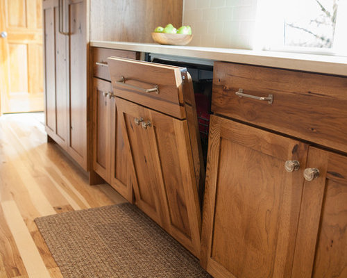 Stained Hickory Cabinets Home Design Ideas, Pictures, Remodel and Decor