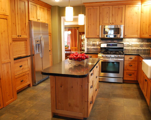 Kraftmaid Montclair Hickory Cabinets Home Design Ideas, Pictures, Remodel and Decor