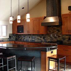 Contemporary Kitchen by Authentik Design, Inc - Kelly Macdonald