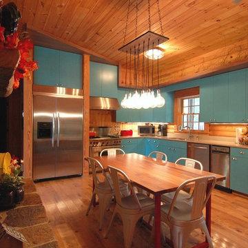 Rustic Modern Log Cabin