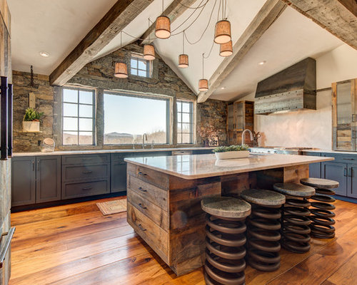 100+ Rustic Kitchen with Blue Cabinets Ideas: Explore Rustic Kitchen ...