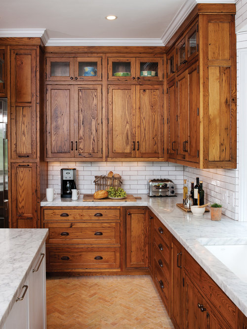 Herringbone tile backsplash houzz for Kitchen backsplash images on houzz