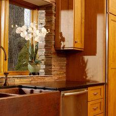 Eclectic Kitchen by Linda G Larisch, CMKBD, Designer for Airoom, LLC