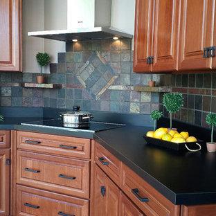 Rustic Slate Tiled Kitchen