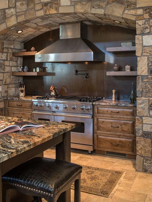 Mediterrane Küchen mit Granit-Arbeitsplatte Ideen, Design & Bilder ...