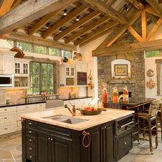 Rustic Kitchen by Hoyt / CTA Architects