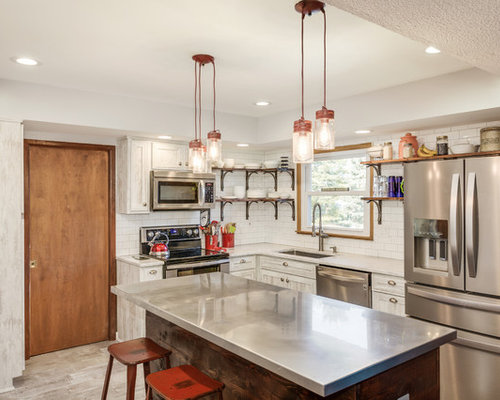 Best 20 Farmhouse Kitchen with Stainless Steel Countertops Ideas ...