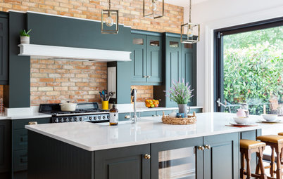 Kitchen Tour: Dark Green Units Add Elegance to a Welcoming Space