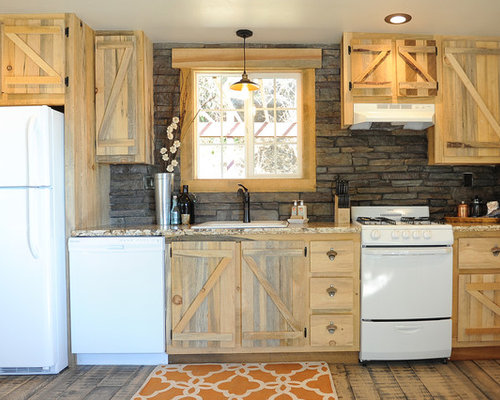 Rustic stone backsplash ideas pictures remodel and decor for Cabin kitchen backsplash ideas