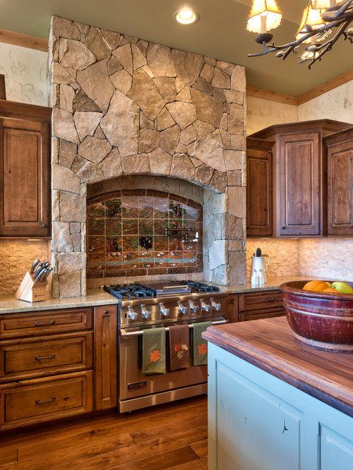 rustic backsplash kitchen design home design ideas photos