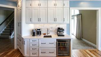 Rustic White and Gray Kitchen with Massive Storage Solutions