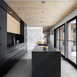Inspiration pour une cuisine minimaliste.