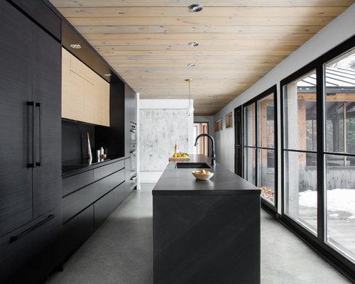 Modern Kitchen Designs   Example Of A Minimalist Kitchen Design In Montreal Part 95