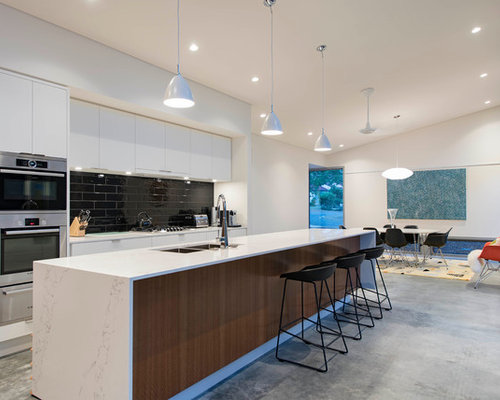 Kitchen Sinks Canberra : galley eat-in kitchen in Canberra - Queanbeyan with a double-bowl sink ...