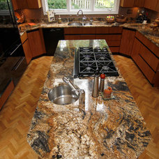 Transitional Kitchen by Dominion Granite & Marble