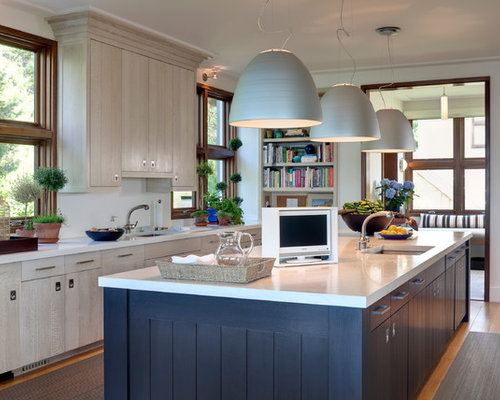 White Stained Cabinets Home Design Ideas, Pictures ...